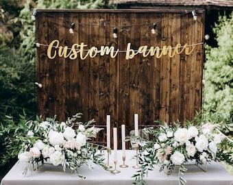 Custom banner, gold banner, bachelorette banner, bridal shower banner, party banner, custom party banner, personalized banner, custom sign