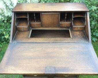 NOW ** SOLD ** Vintage Oak Bureau