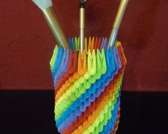 3D Origami: Pen/Brush Holder Self-Build Kit
