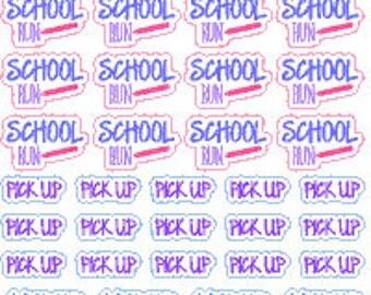 School Run // Diary // Planner // Stickers