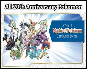 All 20th Anniversary Events | Pokemon Sun and Moon | ORAS | XY