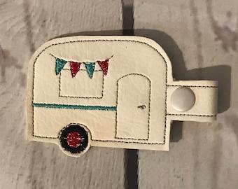 Vintage Camper Key Fob/ Key Ring/ Camper Keys/Valentines day gift