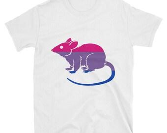 Bi Pride rat bisexual Unisex T-Shirt lgbt lgbtqipa lgbtq mogai pride flag queer
