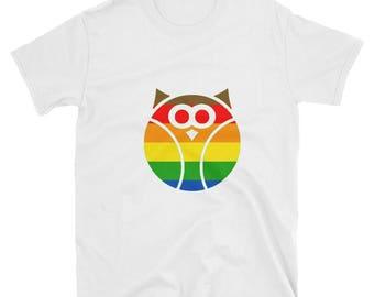 Philadelphia Pride Flag Owl Unisex T-Shirt lgbtq lgbt lgbtqipa queer gay transgender mogai