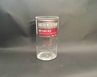 HANDCRAFTED Up-Cycled 750ML Auchentoshan 12 Year Scotch Whiskey Candle BOTTLE Soy Candle.  Made To Order