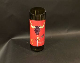 FESTIVUS Candle UP-CYCLED Canyon Creek Winery Cabernet Sauvignon  Sonoma County Wine Bottle Soy Candle. Made To Order !!!!!!!