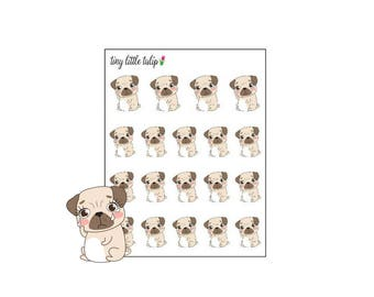 Planner Stickers Pug Sad/Crying