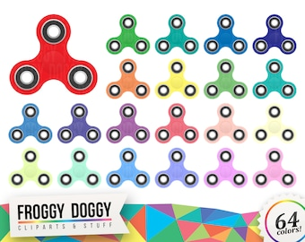 Fidget Spinner Clipart, Fidget Toy Clipart, Stress Relief Clipart, Toy Clipart, Widget Clipart, Planner Clipart, Scrapbooking Cliparts
