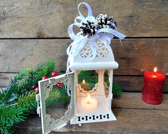 Set Of 10 Christmas WeddingWinter Wedding DecorMoroccan LanternsWhite Lanterns