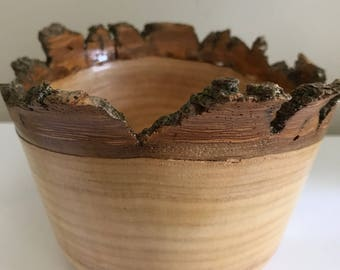 Wood Bowl made from Canadian Ash tree - Handmade on a Wood Lathe
