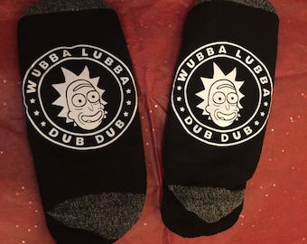 Rick and Morty : Wubba Lubba Dub Dub socks