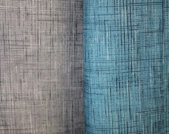 fabric tablecloth, faux denim, blue or gray, 100% polyester