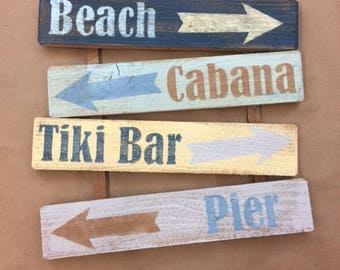Beach Signs Wooden, Beach Sign Saying, Cabana Wood sign, Wall art, Wall decor, Rustic Sign, Handmade Painted Sign