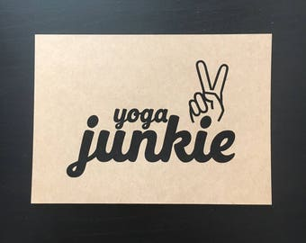 5x7 // Print // Yoga Junkie