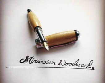 Handmade Wooden Fountain Pen for fathers day or an anniversary gift