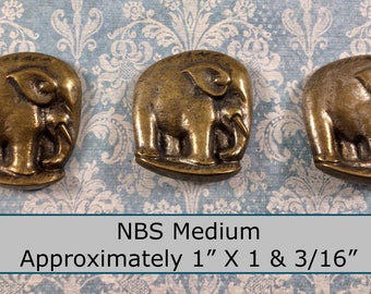 ONE Made in France Gold Toned Metal NBS Medium Button