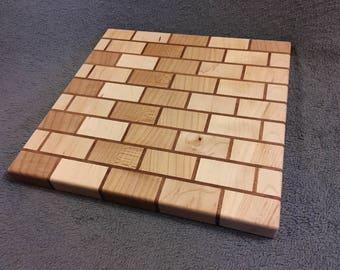 Brick patterned cutting board