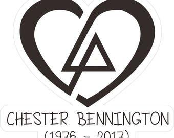 RIP Chester Bennington Linkin Park Heart Design bumper sticker decal