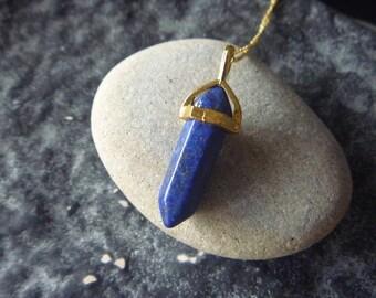 Blue Gold lapis lazuli necklace