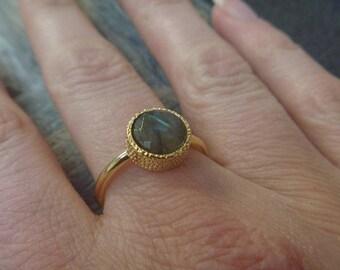 Golden labradorite ring