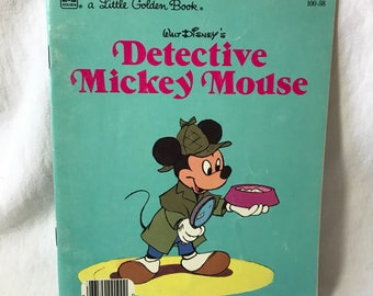 1985 A Little Golden Book, Walt Disney's Detective Mickey Mouse