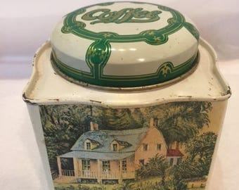 Currier & Ives Coffee tin
