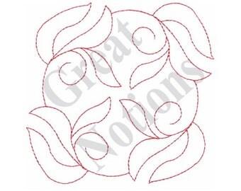 Floral Quilt Design - Machine Embroidery Design