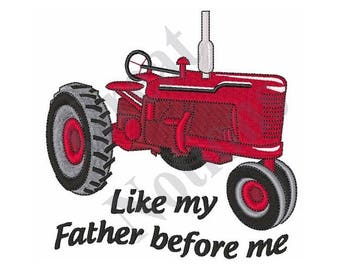 Vintage Tractor - Machine Embroidery Design