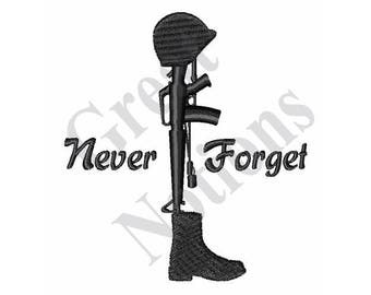 Fallen Soldier Memorial - Machine Embroidery Design