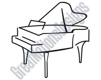 Piano 1 Color SVG - HTV - Vinyl Cutting Graphic Art
