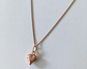 Rose Gold Vermeil necklace with Heart charm