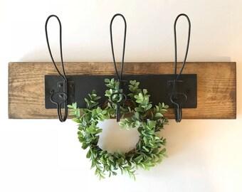 Iron Wood Wall Hooks