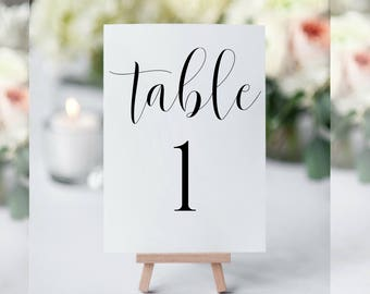 printable table numbers table numbers wedding table numbers printable table numbers template