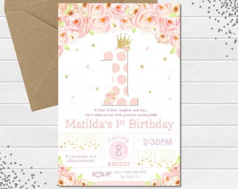1st birthday printable invitations