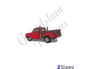 Lil Red Express Pick Up Truck - Machine Embroidery Design