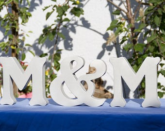 Initial wooden letter XXXL free Standing