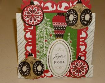 Christmas Joycux Noel Center Step Card