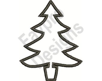 Tree Outline Etsy - Christmas Tree Outlines
