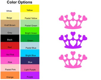 25 Pieces - Crown Die Cut Shapes, Paper  Crown Shapes, Crown Shape Cut Outs, Crown Party Decorations, Card Making, Scrapbooking, DIY Crafts