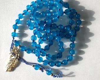 COMMUNICATION MALA, Mala, Mala beads, Mala necklace, meditation beads, meditation necklace, 108, hand knotted, 108 beads, om, namaste, zen