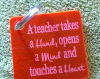Teacher gift, Teacher keyrings, acrylic keyring, Thank you gift