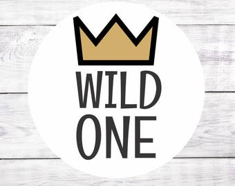 Wild One Favor Stickers Favour Labels Bags Wild One Birthday Party Where The Wild Things Are 1st Birthday Boy