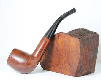 Vintage Wally pipe #3, Made in Canada with Algerian Briar, PetesNeatOldStuff, collectible pipe, Tobacciana, used tobacco pipe, briar pipe