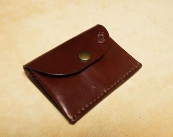 Business card holder wallet PURSE / / portfolio in cowhide URSUS / / handmade leather accessories