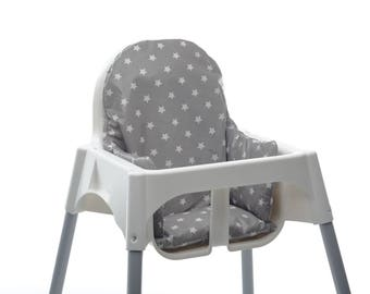 High Chair Cushion Insert - Super snug, supportive and wipe clean.  Fits Ikea Antilop and Wooden Restaurant High Chairs