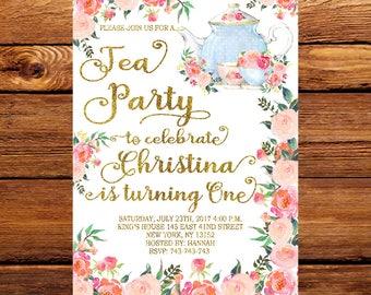 Tea Party Invitation, Princess Tea Party Invitation,Tea Party Birthday Invitation,Tea Party Ideas, Tea Party, Birthday Party 231