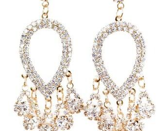 Sparkling Crystal Chandelier Drop Earrings