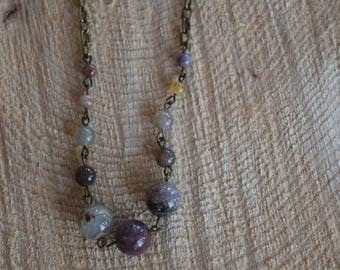 Midwest sunrise. Fancy jasper necklace. Nature inspired jewelry.