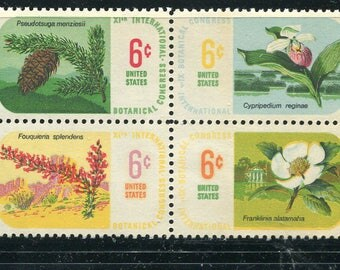 Botanical Stamps /4 Unused Postage Stamps/ Plant Stamps