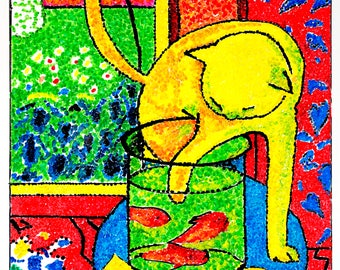 """Matisse - """"The Great Cat"""" Whiteboard Drawing HD Print"""